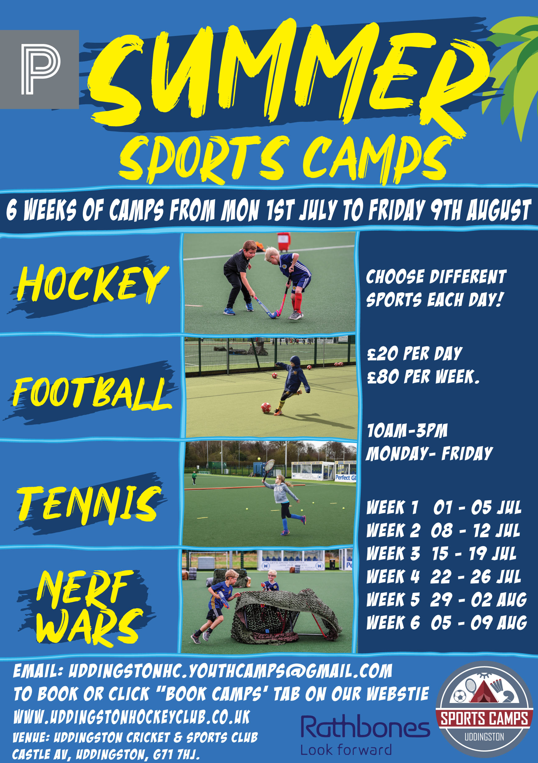 Multi sport camp summer RGB